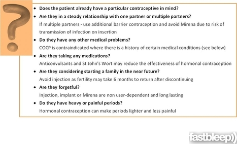 Contraception Counselling - Obstetrics | Fastbleep | Reproductive Medicine | Scoop.it