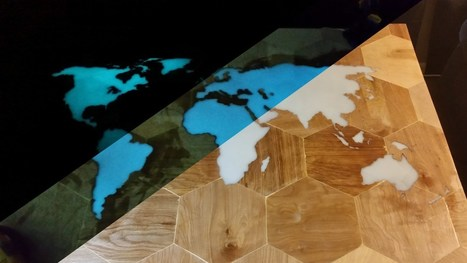 Gorgeous Glow-in-the-Dark CNC Map Table   Learning by Doing   Scoop.it