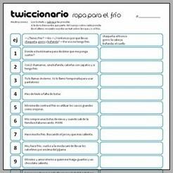 Twiccionario: Ropa para el frío   Classroom   Scoop.it