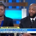 "Trayvon Martin's parents express ""shock"" and ""disgust"" at Zimmerman verdict 