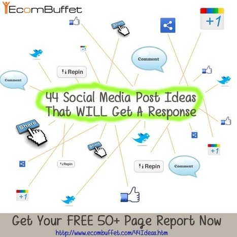 44 Social Media Post Ideas That WILL Get A Response | CAEXI Expertises | Scoop.it