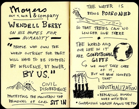 Sketchnotes of Wendell Berry and His Hopes for Humanity | The ... | doodle | Scoop.it