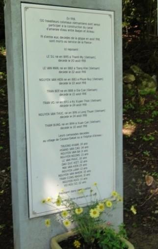 Cazaux - Debat, 23 juin 2013 : inauguration de la stèle à la mémoire de 19 travailleurs coloniaux viêtnamiens | Vallée d'Aure - Pyrénées | Scoop.it