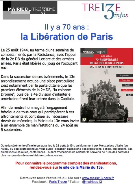Il y a 70 ans  la LIBÉRATION de Paris | Le BONHEUR comme indice d'épanouissement social et économique. | Scoop.it