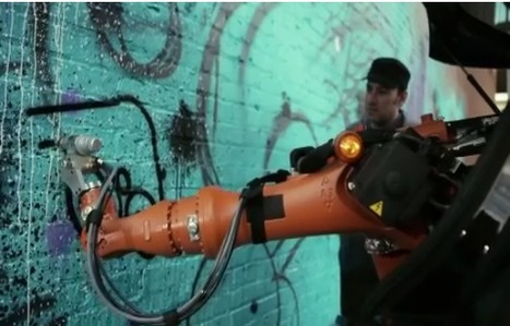Assembly line robot street art | World of Street & Outdoor Arts | Scoop.it