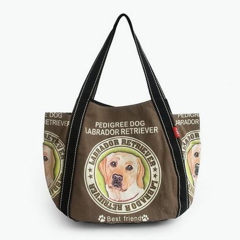 ILEA - [Pedigree Dog] 100% Cotton Eco Canvas Shoulder Tote Bag / Shopper Bag / Multiple Pockets ladies clothing | homeschooling | Scoop.it