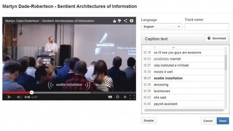 Accessibility through video captions | Tutorial | Accessibilité numérique | Scoop.it