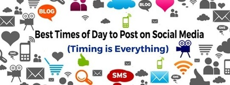 Best Times of Day to Post on Social Media [Infographic] | Easy Media Network | Scoop.it