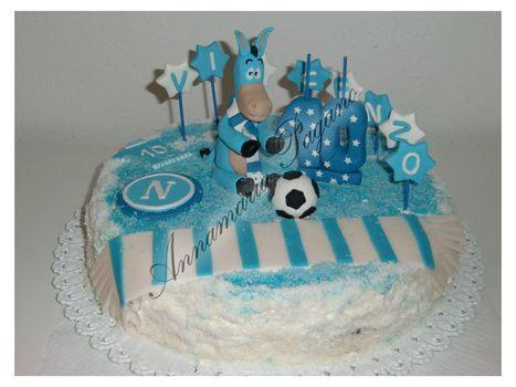 Torta con mascotte della squadra del Napoli   Cake Design e Decorazioni Torte   Scoop.it