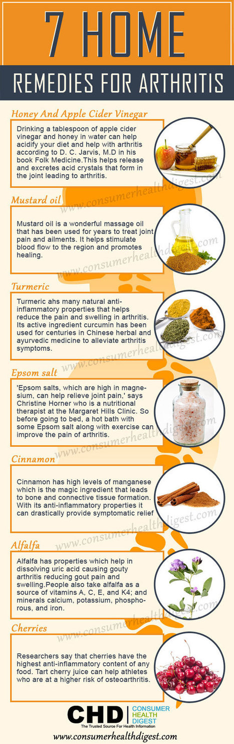 7 Home Remedies for Arthritis Joint Pain   Healthy Lifestyle and Fitness   Scoop.it