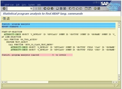How to scan your programs for information « Basis Tips « Sap Tips And Tricks « Homepage for SAP Professionals | SAP, Security & Beyond | Scoop.it