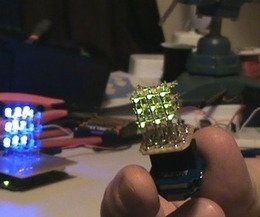 Half-Inch LED Cube: Arduino controlled 3x3x3 with SMD LEDs! | Open Source Hardware News | Scoop.it