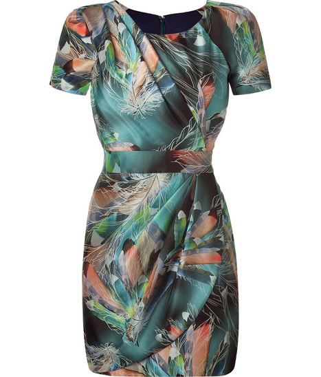 Teal Printed Silk Dress with Draped Shoulder , Apparel and Accessories Products, Women's Clothing Manufacturers, Teal Printed Silk Dress with Draped Shoulder Suppliers and Exporters Directory   Adventure Tours   Scoop.it