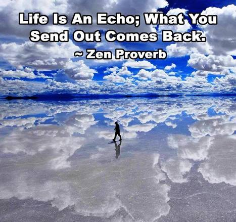 Life Is An Echo; What You Send Out Comes Back | HolisticGreen | Scoop.it
