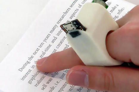 This finger-mounted camera turns any book into an audiobook | Sciences & Technology | Scoop.it