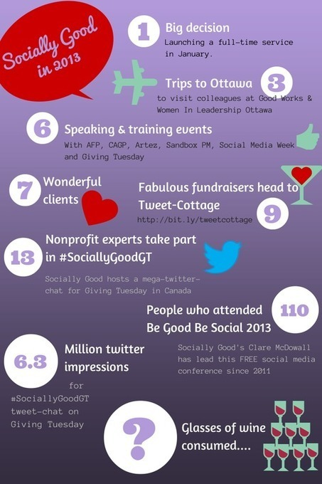 2013 in colourful stats | Social Media Updates for nonprofits | Scoop.it