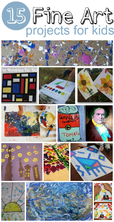 15 Fine Art Projects for Kids | Learn through Play - pre-K | Scoop.it