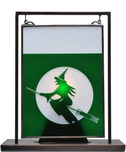 "Meyda Tiffany 11""h Witch on Broom 1-Light Mini Tabletop Window Black | Home - Office Accessories | Scoop.it"
