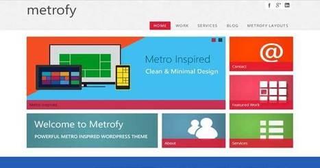 21 Best Metro Style WordPress Themes 2014 - Templates Crunch | WordPress Themes | Scoop.it