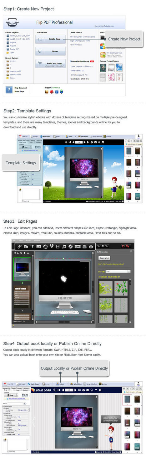 Flip PDF Professional: Convert PDF to flipbook and embed multimedia, YouTube and more.[FlipBuilder.com] | Flip Builder Convert pdf to flip book eBook for digital magazine publishing with flip pdf. | Scoop.it