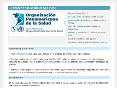 El derecho a la salud (escala local) - Recursos educ.ar | Educacion | Scoop.it