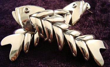 Molina Swimming Fish Earrings | Taxco.925 Mexican Silver Store | Scoop.it