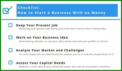 Checklist: How to Start a Business with No Money | Business Tips | Scoop.it