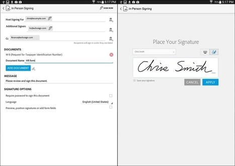 Adobe EchoSign | tu firma electrónica en cualquier documento [Android] | MLKtoSCL | Scoop.it