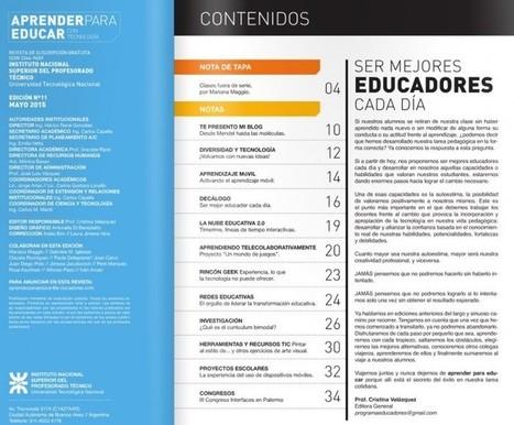 Nuevo número de la revista gratuita para educadores: Aprender para educar con tecnología | Educación y TIC | Scoop.it