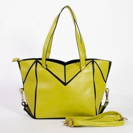 Sac à main convertible graphique jaune-vert ou bleu   Accessoires de mode femme   Scoop.it