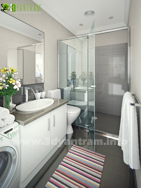 Custom 3D Animation Remodeling: How to Update the Kids' Bathroom | 3D Interior rendering | Scoop.it