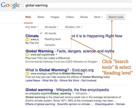 Advanced Google Search Tip: Sort by Reading Level | AdLit | Scoop.it