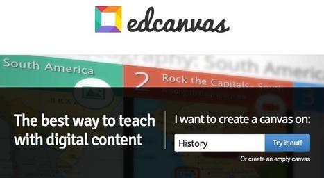 Crea un lienzo de herramientas para tus cursos con EdCanvas   Entornos Personales de Aprendizaje   Scoop.it