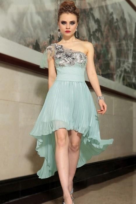 Romantic Chiffon Natural Sage Prom Dresses Inexpensive | Fashion Dresses | Scoop.it