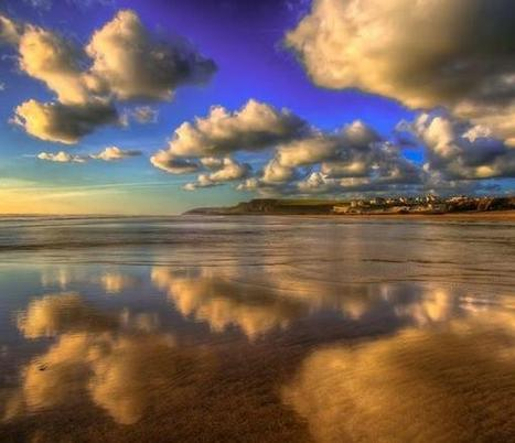 "GREAT Britain sur Twitter : ""Sandy reflections of bold clouds in Bude, North Cornwall http://t.co/PwsINe7iRQ http://t.co/OArcoCW7JO"" 