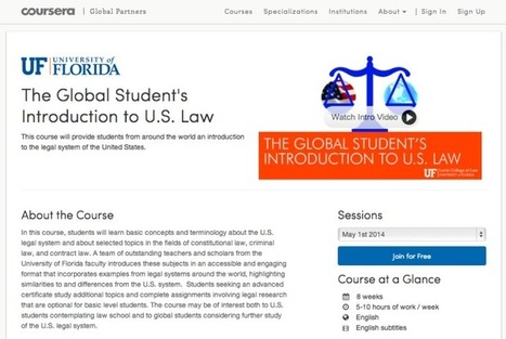 New Coursera MOOC opens for Levin College of Law, joins UF's 10 others - The Independent Florida Alligator | MOOC | Scoop.it