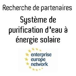 Recherche de partenaires: Système de purification d'eau à énergie solaire   DREAM   Planète bleue en alerte rouge   Scoop.it