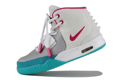 Nike Yeezy 2 Womens Glow Shoes with White/Grey/Pink/Blue Colorways - New Release | my style | Scoop.it