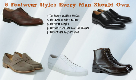 5 Footwear Styles Every Man Should Own | Le Marche & Fashion | Scoop.it