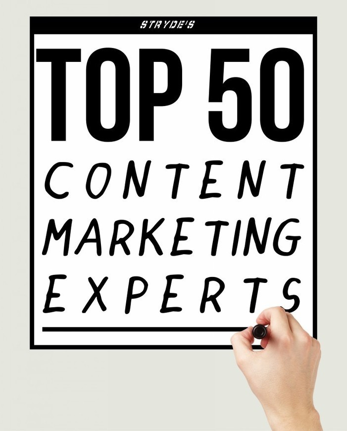Top 50 Content Marketing Experts - STRYDE