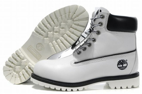 timberland mens premium 6 inch waterproof boots white black | want and share | Scoop.it