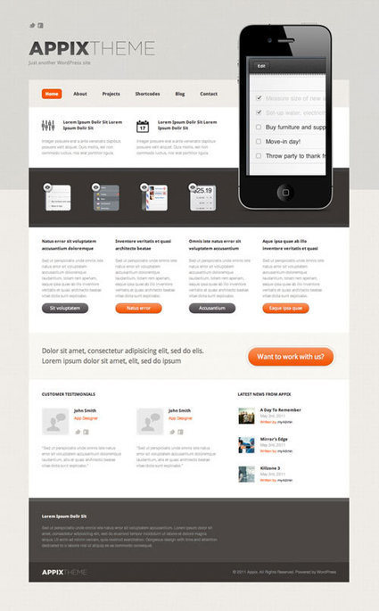 15 Free PSD Website Templates | Juneja Web Blog | Web Inspiration | Scoop.it