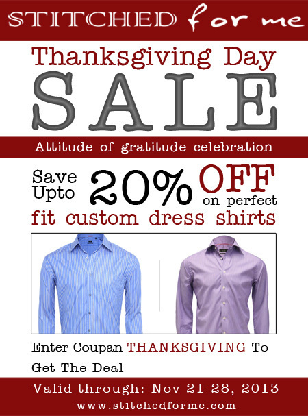 Thanksgiving Day Sale - Online Custom Fit Dress Shirt | Latest Fashion for 2013 | Scoop.it