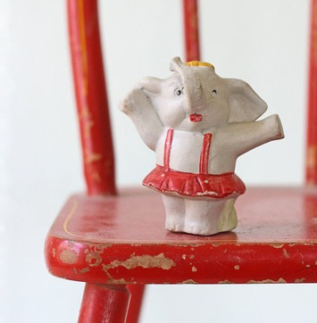 Vintage Ceramic Elephant - Circus Girl Elephant | Kitsch | Scoop.it