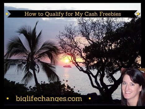 How to Qualify for My Cash Freebies - Wendy Cooley, LMSW   Market and self improvement   Scoop.it