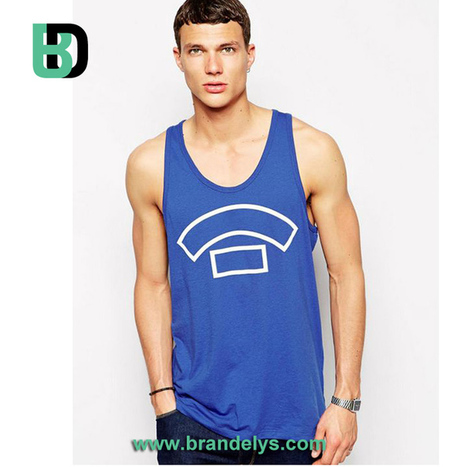 Débardeur bleu personnalisable tsm044 - BRANDELYS | FASHION INDUSTRY & BRANDING | Scoop.it
