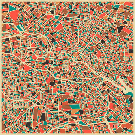 City Maps by Jazzberry Blue... rendered in an abstract – almost Klee-ian – manner – SOCKS | Urbanisme | Scoop.it