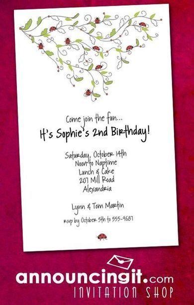 Ladybug Party Invitations | Party Invitations | Scoop.it