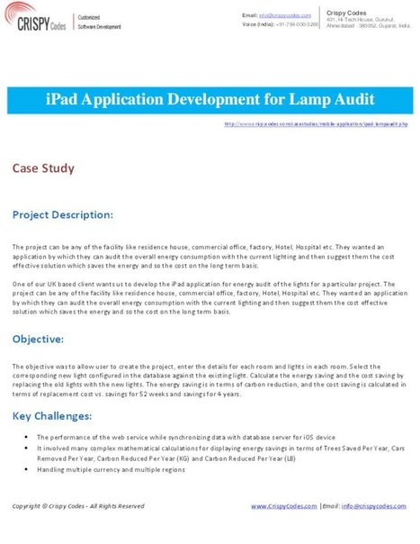 iPad Application Development for Lamp Audit   Web & Mobile Application Development (OPS)   Scoop.it