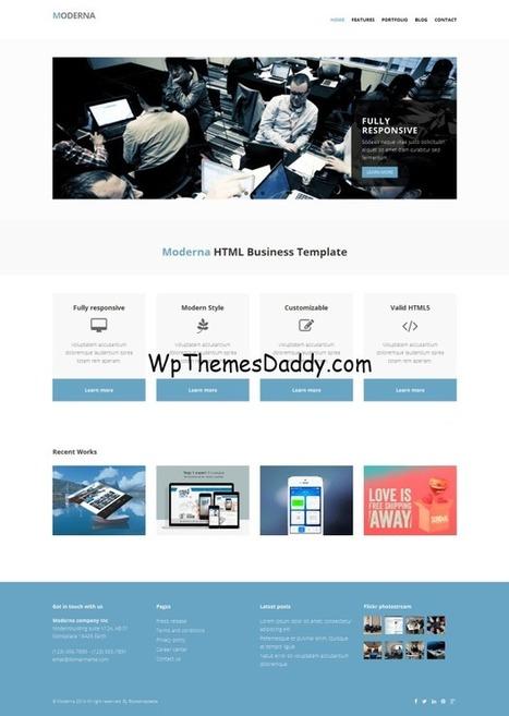 Free HTML5 CSS3 Website Templates - 56+ ~ Free WordPress Themes - WP Themes Daddy   Free Wordpress Themes   Scoop.it